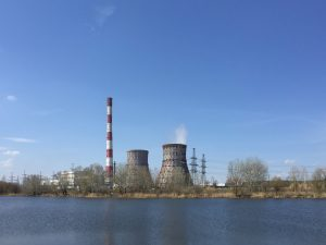 power station on a lake BY4CFKS
