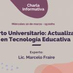 Charla informativa Experto universitario en tecnología educativa