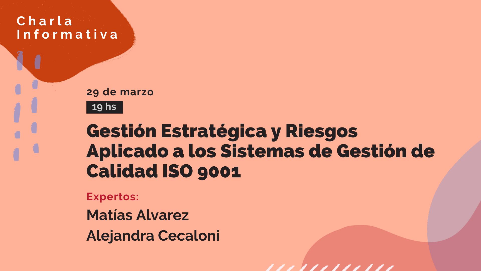 Charla informativa_Gestión riesgos ISO 9001