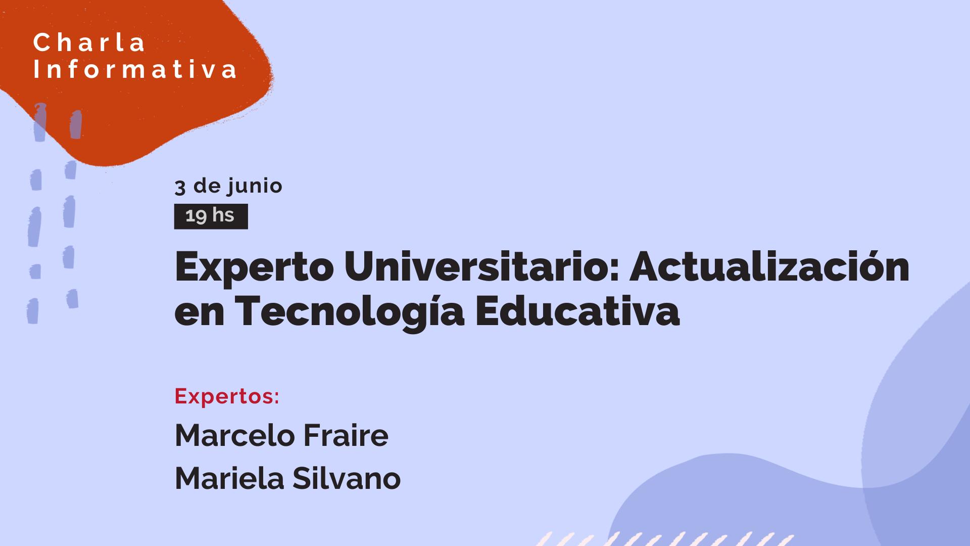 Experto Universitario Actualización en Tecnología Educativa