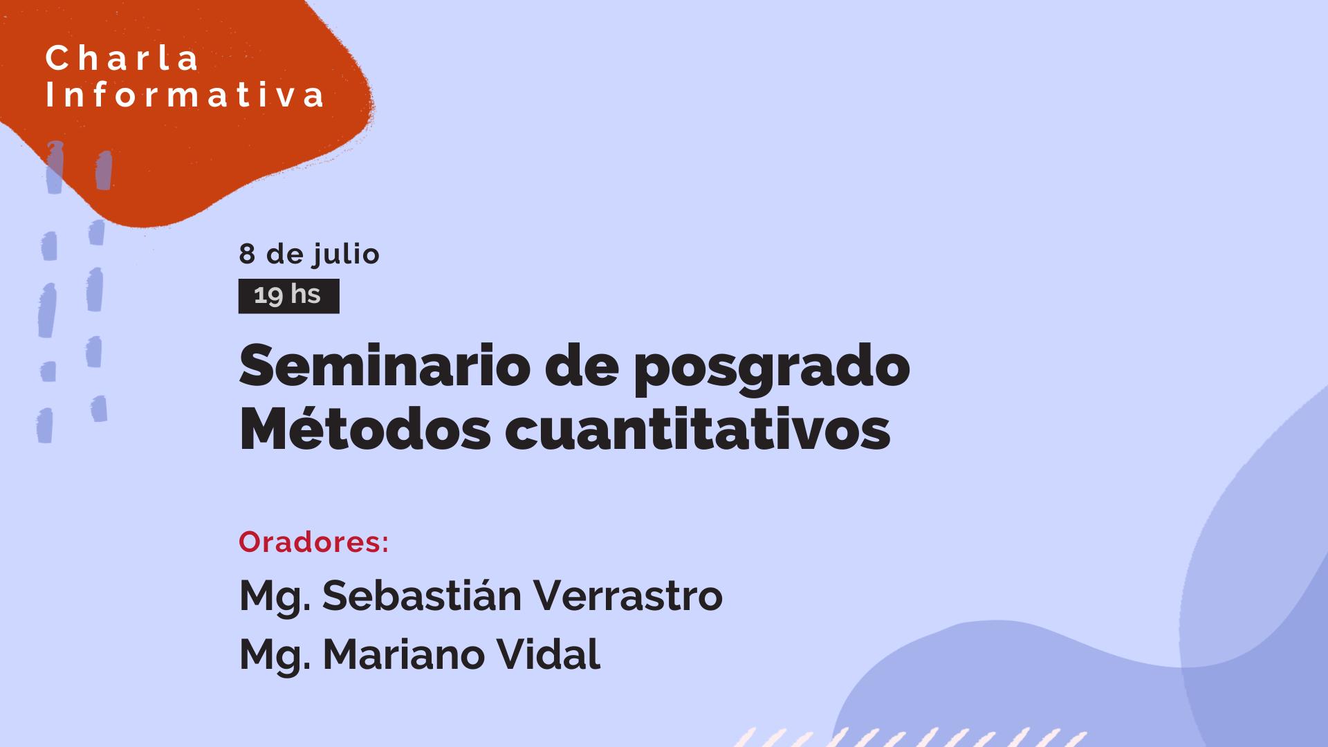 Seminario de posgrado Métodos cuantitativos-UTN online